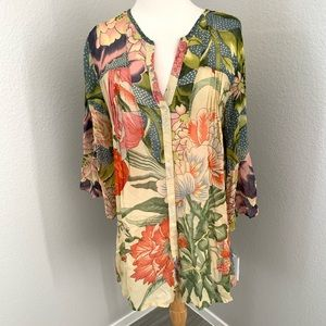 Staring at Stars /Anthropologie Floral Blouse